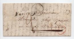 - Cursive FAVERNEY Pour VESOUL (Haute-Saône) 17 AVRIL 1839 - Taxe Manuscrite 2 Décimes - Boite Rurale MEURCOURT - - Marcofilia (sobres)