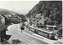 Hölstein Tram Tramway Strassenbahn Bahnhof Basel Tramway Trolley Waldenburgbahn Eisenbahn Lokalban 1972 - BL Bâle-Campagne