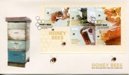 New Zealand 2013 Honey Bees MS FDC Cover - FDC