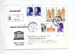 Lettre Recommandée Paris 7 Unesco - Poststempel (Briefe)