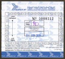 ALGERIA Ticket Billet  Railway Ste Nle Des Transports Ferroviaires SNTF Train Tren Eisenbahn Zug Tickets - Chemins De Fer