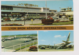 Vintage Rppc Air France AF. Caravelle Se-210 UTA Douglas Dc-8 Jet Aircraft @ Lyon Bron Airport - 1946-....: Era Moderna
