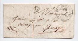 - Boite Rurale AISEY (Haute-Saône) Pour EPERNAY (Marne) 18 OCT 1839 - Taxe Manuscrite 4 Décimes - Décime Rural - - Marcofilia (sobres)