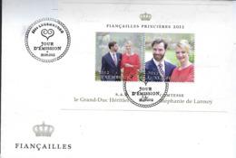 Luxembourg  -  FDC   25.9.2012   Fiancailles Princières 2012 - FDC