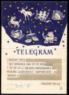 POLAND 1971 TELEGRAM SPECIAL OCCASION SIGNS OF THE ZODIAC DARK BLUE USED LX 17 TÉLÉGRAMME TELEGRAMM TELEGRAMA TELEGRAMMA - Astrology