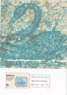 34268. Tarjeta Maxima QUEEN VICTORIA BUILDING (Australia)  1990. Stamps To Stamps - Sellos Sobre Sellos