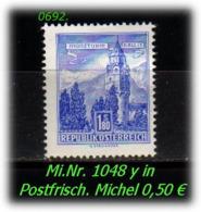 Österreich - Mi. Nr: 1048 Y - In Postfrisch - 1945-60 Unused Stamps