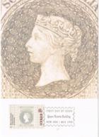 34269. Tarjeta Maxima QUEEN VICTORIA BUILDING (Australia)  1990. Stamps To Stamps - Sellos Sobre Sellos