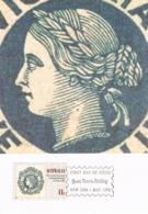 34271. Tarjeta Maxima QUEEN VICTORIA BUILDING (Australia)  1990. Stamps To Stamps - Sellos Sobre Sellos