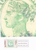 34272. Tarjeta Maxima QUEEN VICTORIA BUILDING (Australia)  1990. Stamps To Stamps - Sellos Sobre Sellos