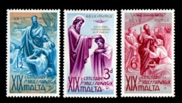 Malta. 1960 The 1900th Anniversary Of St. Paulus Shipwreck. SG 295-297. MNH - Malta