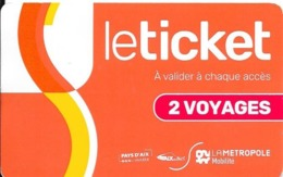 Le Ticket : 2 Voyages : Rechargeable. (Voir Commentaire) - Europa