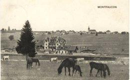 Suisse - Montfaucon (Jura) - Village Vu Des Environs De La Gare - JU Jura