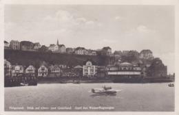 Helgoland * Blick Auf Ober- Und Unterland, Start Des Wasserflugzeuges, Verkehr * Deutschland * AK1406 - Helgoland