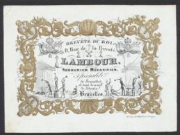 Carte En Porcelaine - Lambour : Serrurier Mécanicien (Bruxelles). TB - Vieux Papiers