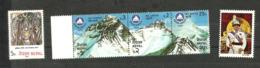 Népal N°384, 390à 392, 395 Neufs** Cote 3.30 Euros - Nepal
