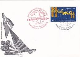 Kazakstan 1993 Cover: Space Weltraum Espace: Soyuz 31 - Saljut 6; Baikonur - Espacio