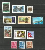 Népal N°417, 431, 438, 442, 463, 509, 535, 625, 706, Et Service N° 13 à 15 Neufs** Cote 3.60 Euros - Nepal