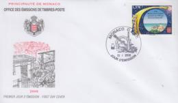 Enveloppe  FDC  1er  Jour   MONACO    Astronomie :  250 éme  Anniversaire  Passage  De  La  Cométe  De  HALEY   2008 - Astronomy