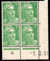 Coin Daté Gandon N° 809 Du 5/2/1951 ** - 1950-1959
