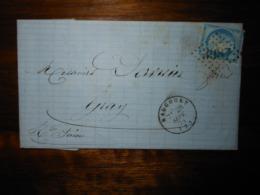 Lettre GC 3087 Raucourt Ardennes Avec Correspondance - 1849-1876: Classic Period
