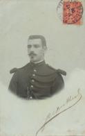 Carte Photo Auto Portrait  JM Dutheil Garde Republicaine Gendarme  Vers Boireau Zouave à Kolea - Police - Gendarmerie