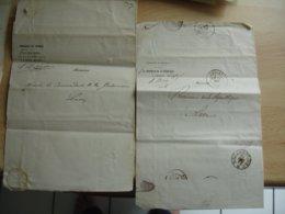 2 Correspondance Obliteration Cholet Sur Correspondance Identification  Vagabond Blesse Guerre 1870 - 1849-1876: Classic Period