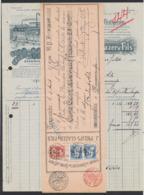 Belgique - Facture Illustrée + Effet De Commerce (Termonde, 1910) : Fabrique De Couvertures De Cotons & D'étoupe - 1900 – 1949