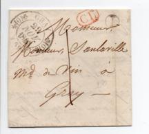 - Boite Rurale GRANDECOURT Pour GRAY (Haute-Saône) 27 NOV 1843 - Taxe Manuscrite 1 Décime - Correspondance Locale - - Marcofilia (sobres)