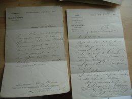 2 Correspondance Obliteration Cholet Sur Correspondance Identification  Vagabond Sorti De Prison - 1849-1876: Classic Period
