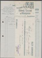 Belgique - Facture Illustrée + Effet De Commerce (Frameries, 1921) / Perron De Liège. - 1900 – 1949