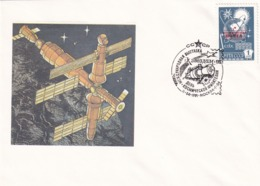 Russia CCCP 1991 Cover: Space Weltraum Espace: Cosmonauts Day Exhibition - Space