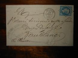 Lettre GC 3071 Quintin Cotes Du Nord Avec Correspondance - 1849-1876: Classic Period