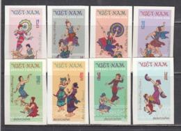 Vietnam Nord 1972 - Folk Dance, Mi-Nr. 709/16, Imperforated, MNH** - Vietnam