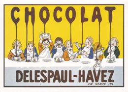 Chocolat DELESPAUL-HAVEZ Repro Moderne De Pub - Pubblicitari
