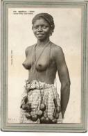 CPA - DAKAR (Sénégal) - Mots Clés: Ethnographie, érotisme, Fille, Femme, Nue, Nude - Type Lébou - En 1900 - Senegal