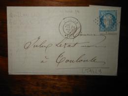 Lettre GC 3064 Quillian Aude Avec Correspondance - 1849-1876: Classic Period