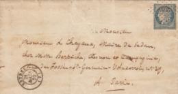 LETTRE. 24 MARS 52. N° 4a. CACHET MAIRIE DE RETHEL ARDENNES. PC 2655. POUR PARIS / 4657 - 1849-1876: Classic Period