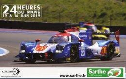 24 Heures Du Mans 2019  -  Ligier (Panis Barthez Competition)- Pilotes: Canal/Stevens/Binder - Carte Promo 29x18cms - Le Mans