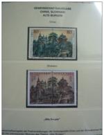 Emissioni Congiunte SLOVACCHIA 2002, Castles 2v [:], Joint Issue China 2 Serie Cpl. 4v. Nuovi** - Gemeinschaftsausgaben