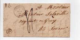 - Boite Rurale CORRAVILLERS Via FAUCOGNEY Pour GRAY Via VESOUL (Haute-Saône) 30 JANV 1848 - Taxe Manuscrite 4 Décimes - - Marcofilia (sobres)