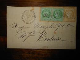 Lettre GC 3045 Puy La Roque Tarn Et Garonne Avec Correspondance - 1849-1876: Classic Period