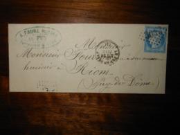 Lettre GC 3043 Le Puy En Velay Haute Loire - 1849-1876: Classic Period