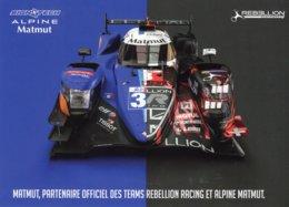 24 Heures Du Mans 2019  -  Alpine Matmut (Rebellion Racing)  - Carte Promo 21x15cms - Le Mans