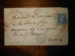 Lettre GC 3041 Puteaux Seine Avec Correspondance - 1849-1876: Classic Period