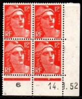 Coin Daté Gandon N° 885 Du 14/1/1952 ** - 1950-1959