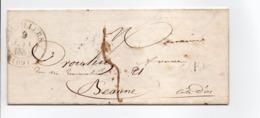 - Boite Rurale FONTENOIS-LA-VILLE Via CORRAVILLERS (Haute-Saône) Pour BEAUNE 7 JUIN 1848 - Taxe Manuscrite 5 Décimes - - Marcofilia (sobres)