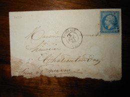 Enveloppe GC 3037 Puiseaux Loiret - 1849-1876: Classic Period