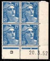 Coin Daté Gandon N° 886 Du 20/3/1952 ** - 1950-1959