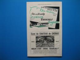 (1947) Coopérative De BEL-AIR à St JEAN D'ARDIÈRES (Rhône) - Cave Du Château De CHENAS - Carte Coopératives Du Rhône - Reclame